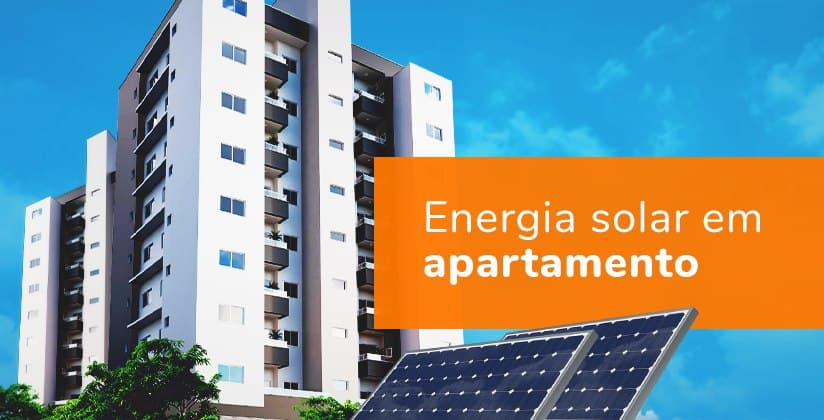 Energia solar em apartamento